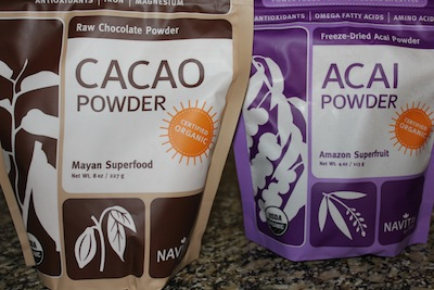 Navitas Naturals Organic Acai and Raw Cacao Powders